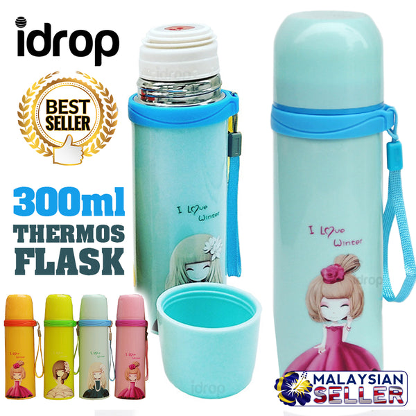 idrop 300ml Insulation GIRLS Thermos Flask Drinking Bottle