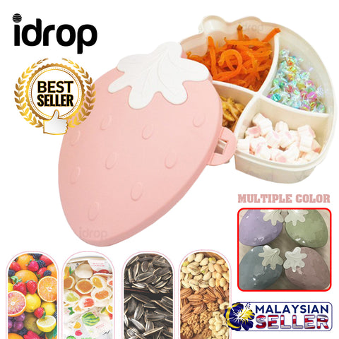 idrop STRAWBERRY BOX - Assorted snack candy food container