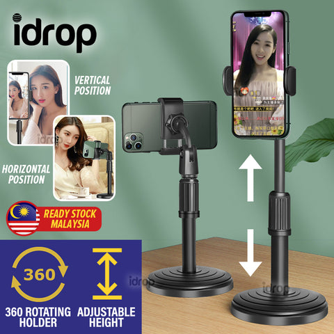 idrop Smartphone Rotating Holder LIVE Recording Adjustable Height Stand