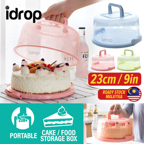 idrop 23CM Portable Cake Food Cover Storage Box