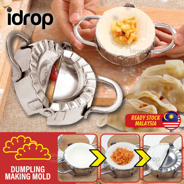 idrop Stainless Steel Dumpling Karipap Making Mold Currypuff Maker