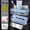idrop Wall Mounted Bathroom Kitchen Toilet Item & Toiletry Storage Rack