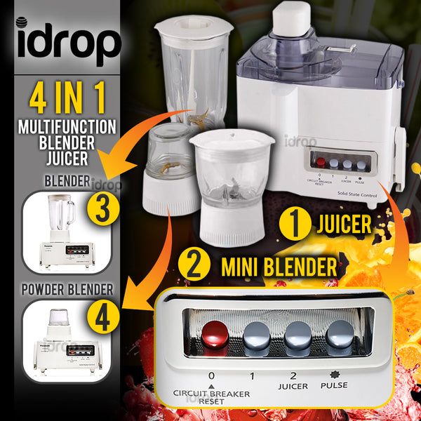idrop [ 4 IN 1 ] Multi-Functional Blender & Juice Extractor Machine