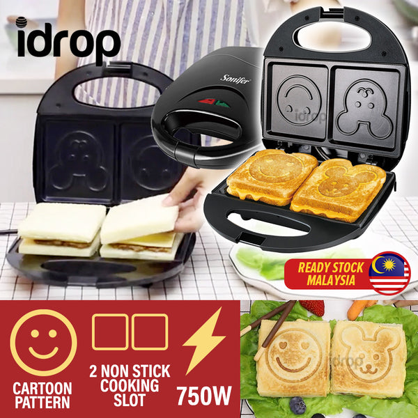 idrop Electric Sandwhich Toaster Maker with Cartoon Face [ 750W ]