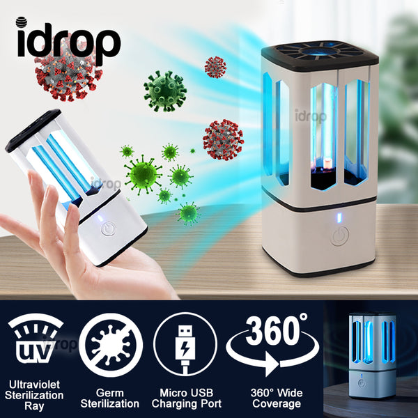 idrop 360° Ultraviolet Ray Disinfecting Sterilizing UV Light USB Rechargeable Lamp