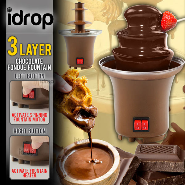 idrop 3 LAYER Mini Chocolate Fondue Fountain Heating Electric Machine