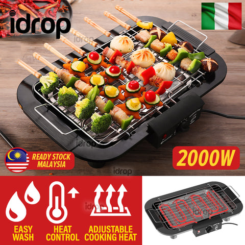 idrop Electric Barbecue Grill BBQ Cooker 2000W