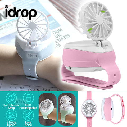 idrop Mini USB Wrist Flip Fan Watch