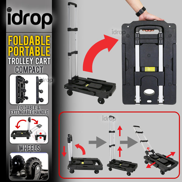 idrop Compact Portable Foldable Trailer Trolley Cart