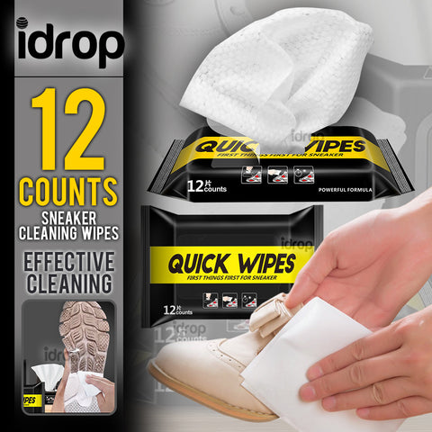 idrop 12pcs Cleaning Sneaker Shoe Quick Wipes [ 150mm x 200mm ]