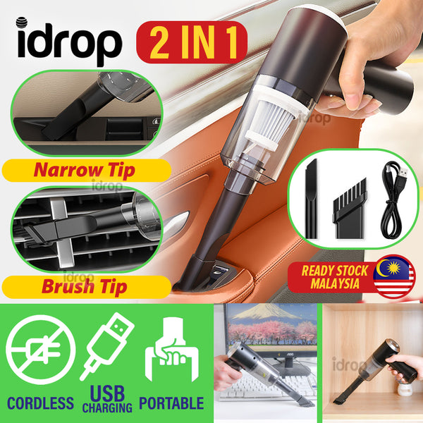 idrop [ 2 IN 1 ] Cordless USB Rechargeable Vacuum Cleaner