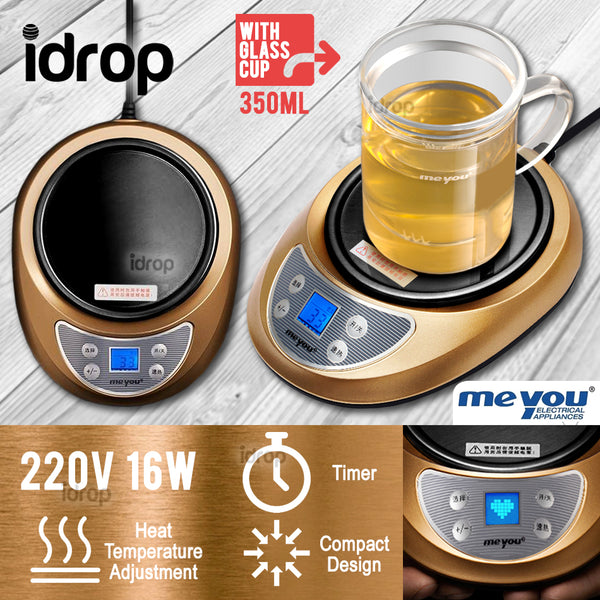 idrop MEYOU Electric Smart Cup Warmer With Glass Tea Pot - ME-B30A