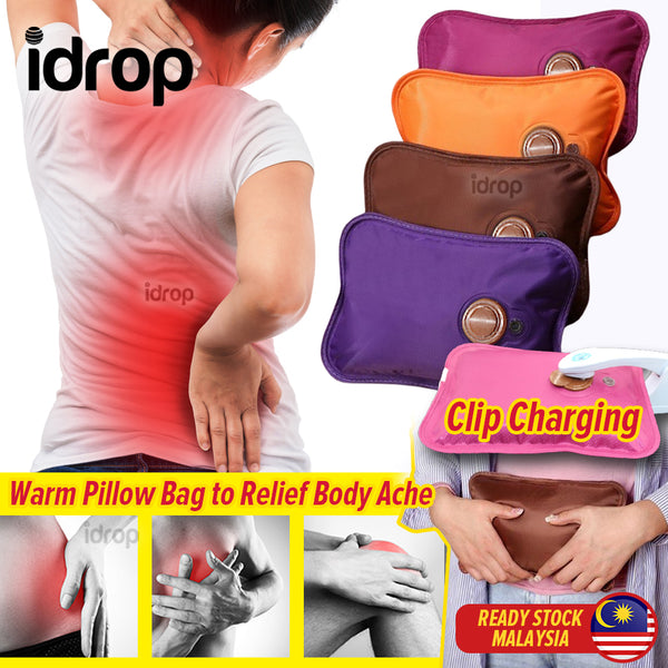 idrop Electric Heating Warm Bag Pillow Body Ache Relief with Clip Charger