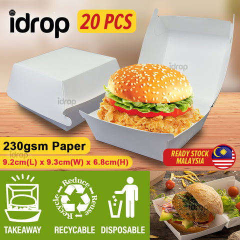 idrop [ 20pcs ]Plain Burger Box Use Paper - ISA C [ 230gsm ]