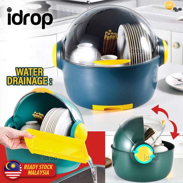 idrop Capsule Dishrack Storage for Plates Bowl & Utensils