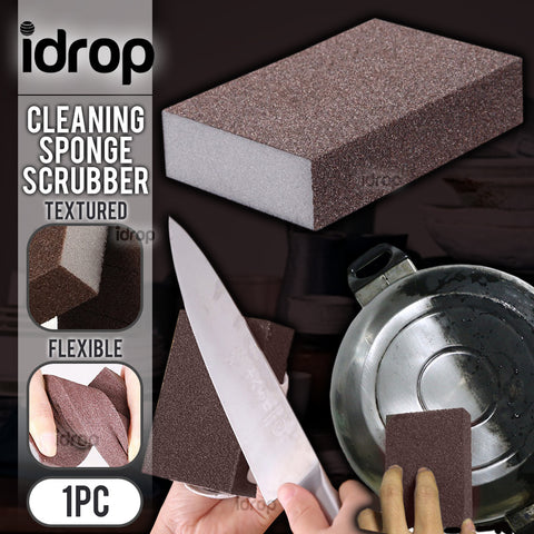 idrop Kitchen Cleaning Black Brown Sponge Scrubber ( 1pcs )
