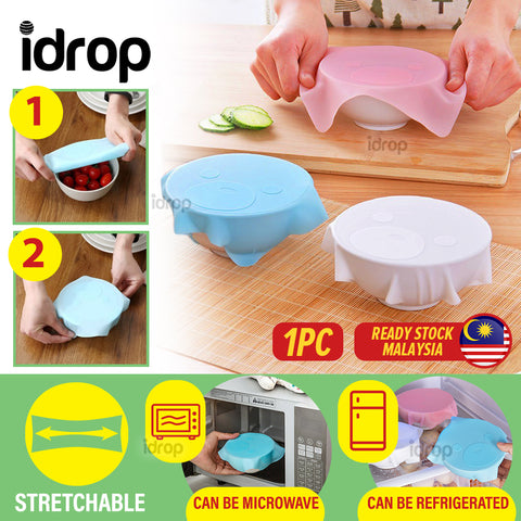 idrop [ 18CM x 18CM ] Food Grade Flexible Stretchable Silicone Wrap [ 1pc ]
