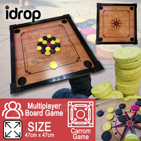 idrop Junior Carrom & Draught Checker Play Board