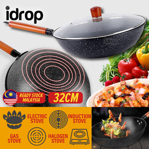 idrop 32CM Nonstick Multi Layer Kitchen Household Cooking Wok