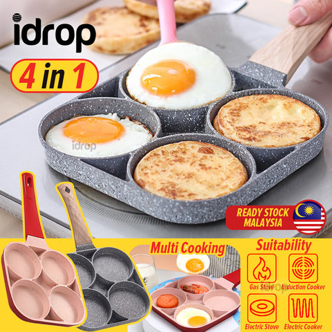 idrop 4 IN 1 Egg Omelette Benjo Cooking Frying Pan