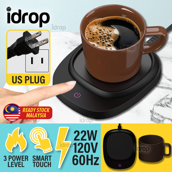 idrop Cup Mug Electric Warmer Heating Cup Set Smart Touch Control / 3 Power Levels / 22W / 120V / 60Hz [ With Ceramic Cup ]