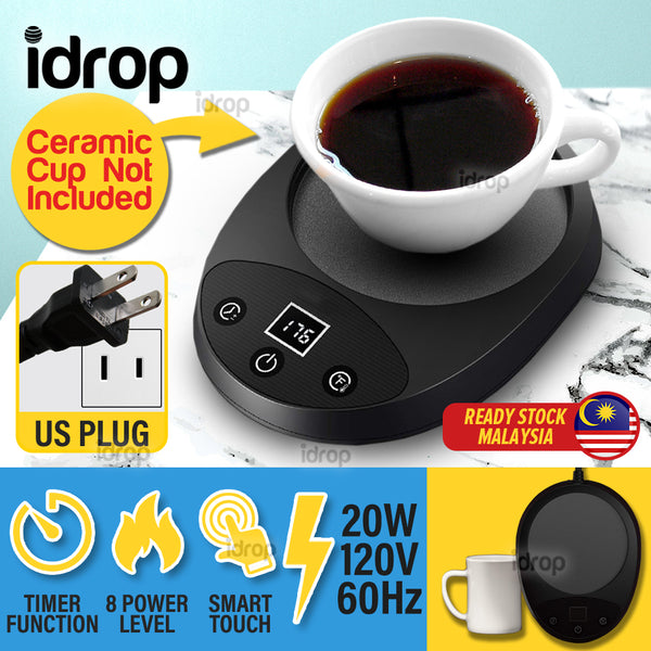 idrop Electric Cup Mug Warmer Smart Touch / 8 Power level / Auto Shutdown / 20W / 120V / 60Hz [ Ceramic Cup NOT INCLUDED ]
