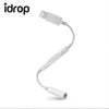 idrop Lightning to Headphone Jack Adapter for Audio/Aux Cable connection for music
