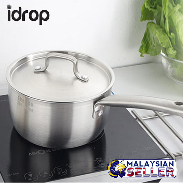 idrop [ 18cm ] 2 Layer Cooking Pot With Handle 2.4L