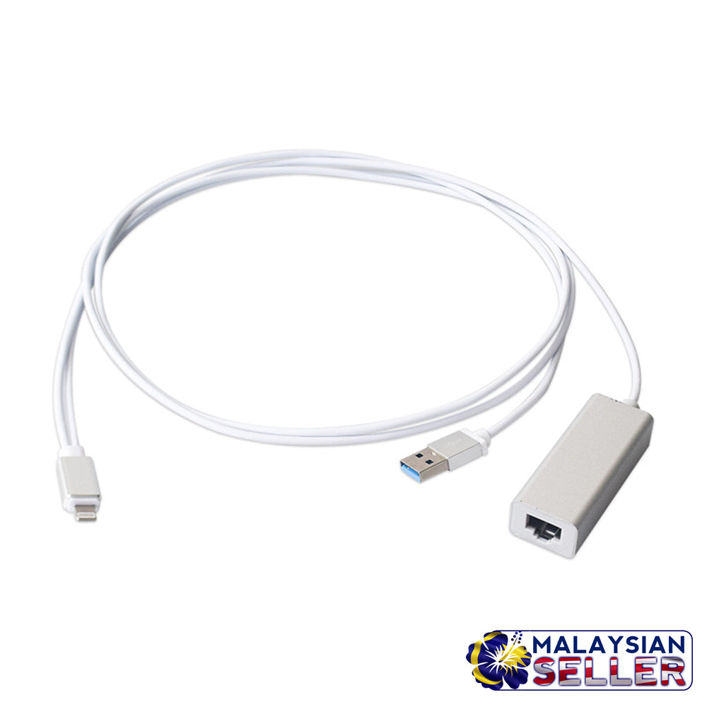 idrop Lightning to RJ45 Ethernet Cable - iPhone / iPad Wired ...