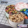 idrop Colorful Wheat Straw 4 Piece Square Food Container