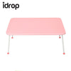 idrop Lazy Computer Desk Table with foldable legs in 3 variation colors Pink, Purple and Blue
