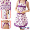 idrop Kitchen Apron [ Colorful Floral Motive Design ]