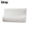 idrop Latex Ergonomic Cervical Pillow with Soft Memory Foam inner and Velvet Cover for Cervical Spine comfort ease health care treatment [large / small]
