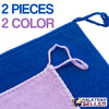 idrop 2pcs Microfiber Cotton Cleaning Cloth Napkin