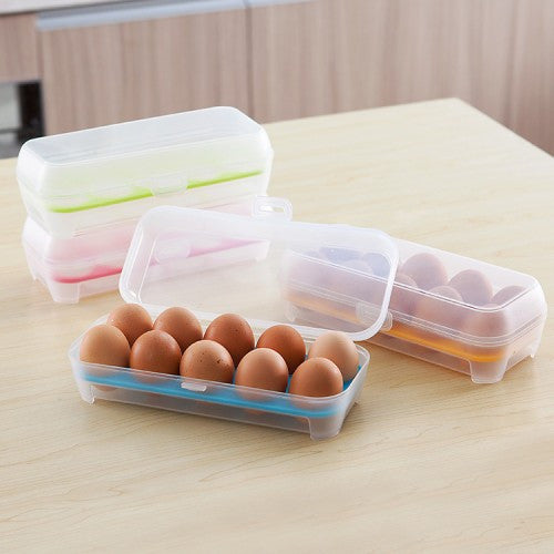 Plastic 10 Grids Egg Holder Food Container Eggs Storage Box