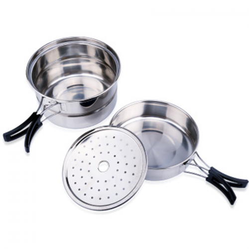 Portable Stainless Steel Outdoor Camping Pot