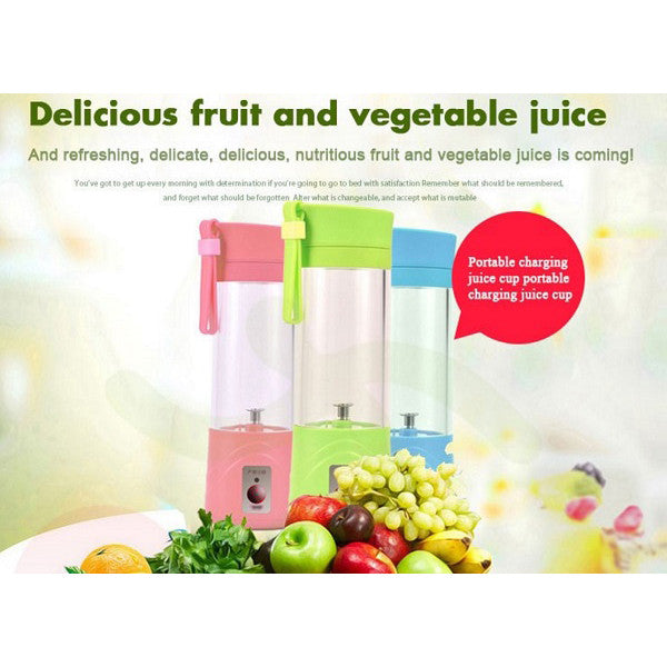 Portable USB Electric Fruit Juicer Citrus Cup Ice Crusher Smoothie Maker 380ML