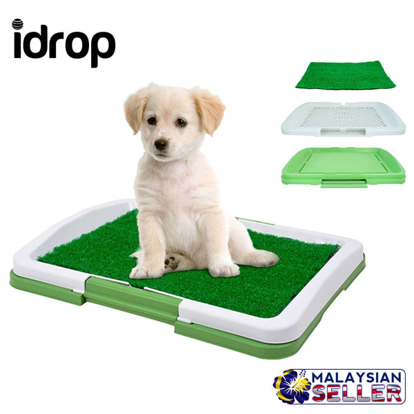 idrop Pet Toilet Mat Puppy Potty Pad Training Seat Tray Dogs Toys Play Fake Grass Pet