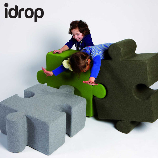 idrop Jigsaw Puzzle Sofa Stool Pieced Together Creative  Sofa Stools (Green)