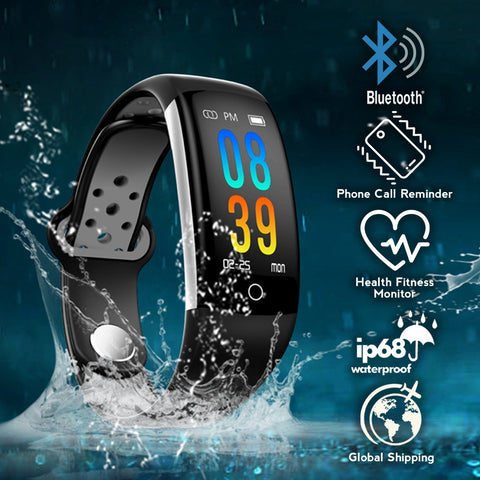 idrop Q6 Colorful Display Smart Watch Bracelet Heart Rate Blood Pressure Monitor for Android IOS