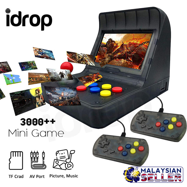 idrop Classic 4.3 Inch Retro Mini Handheld Console 3000 Mini Game with Double Handle
