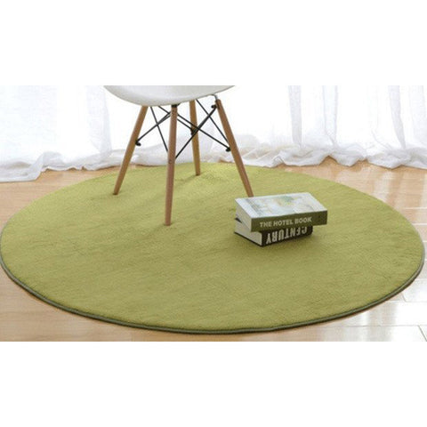Round Coral Fleece Decorative Home Rugs