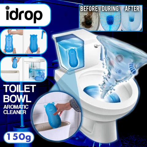 idrop 150g Blue Grizzly Bear Toilet Bowl Flush Aromatic Cleaner Deodorant Cleaning Liquid Agent
