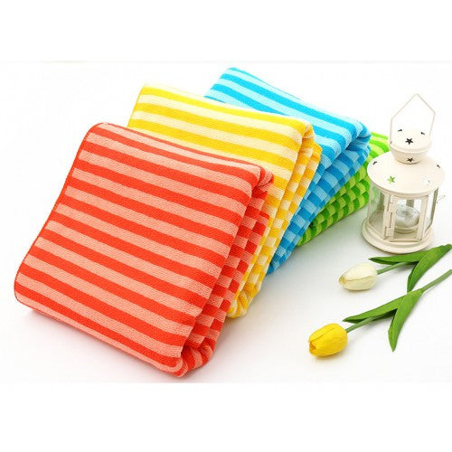 Set Of 2 Multi-Color Striples Towel