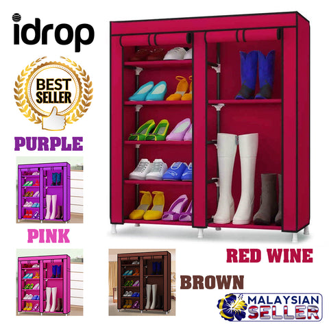 idrop Fashion Portable Dust Cover Shoe Rack and Wardrobe