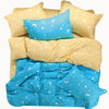 Star & Moon Patterned 500-Thread Count Fitted Bed Sheet Set - King