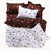 Star & Moon Patterned 500-Thread Count Fitted Bed Sheet Set - Queen