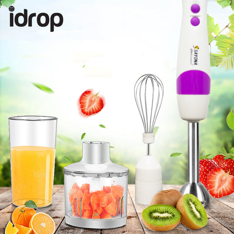 idrop 4 IN 1 Multi-Functional Sayona Hand Blender Machine Stainless Steel Shaft