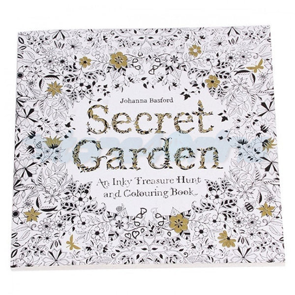 Secret Garden An Inky Treasure Hunt and Coloring Book (English) - 24 Pages