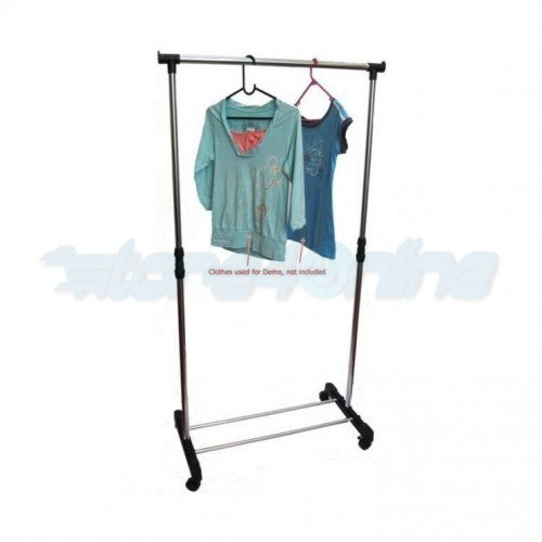 Single Pole Telescopic Multifunctional Clothes Hanger & Shoes Rack